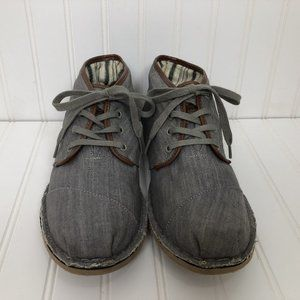TOMS Desert Oxford Lace Up Shoes w/Rubber Soles